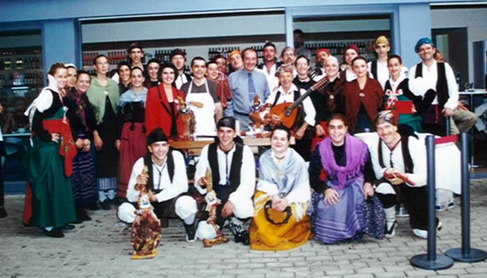 Grupo Folklórico Alto Aragón en la Expo de Hannover en el año 2000