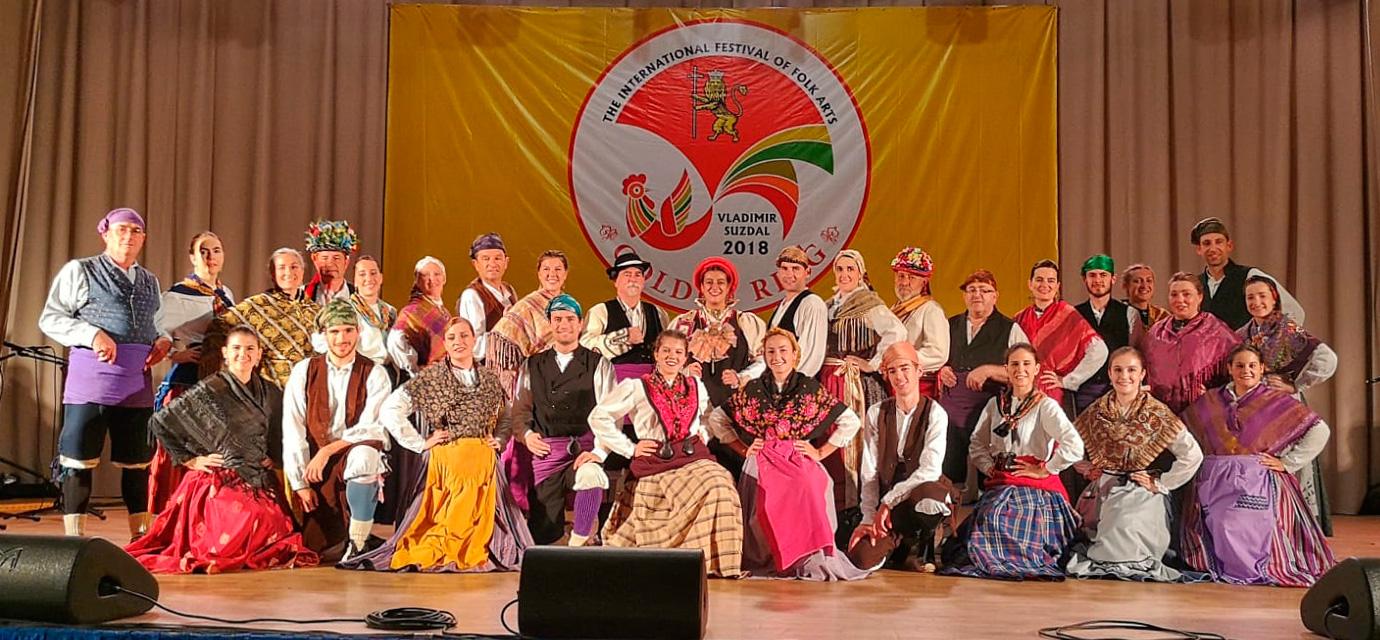 El Grupo Folklórico Alto Aragón en Rusia